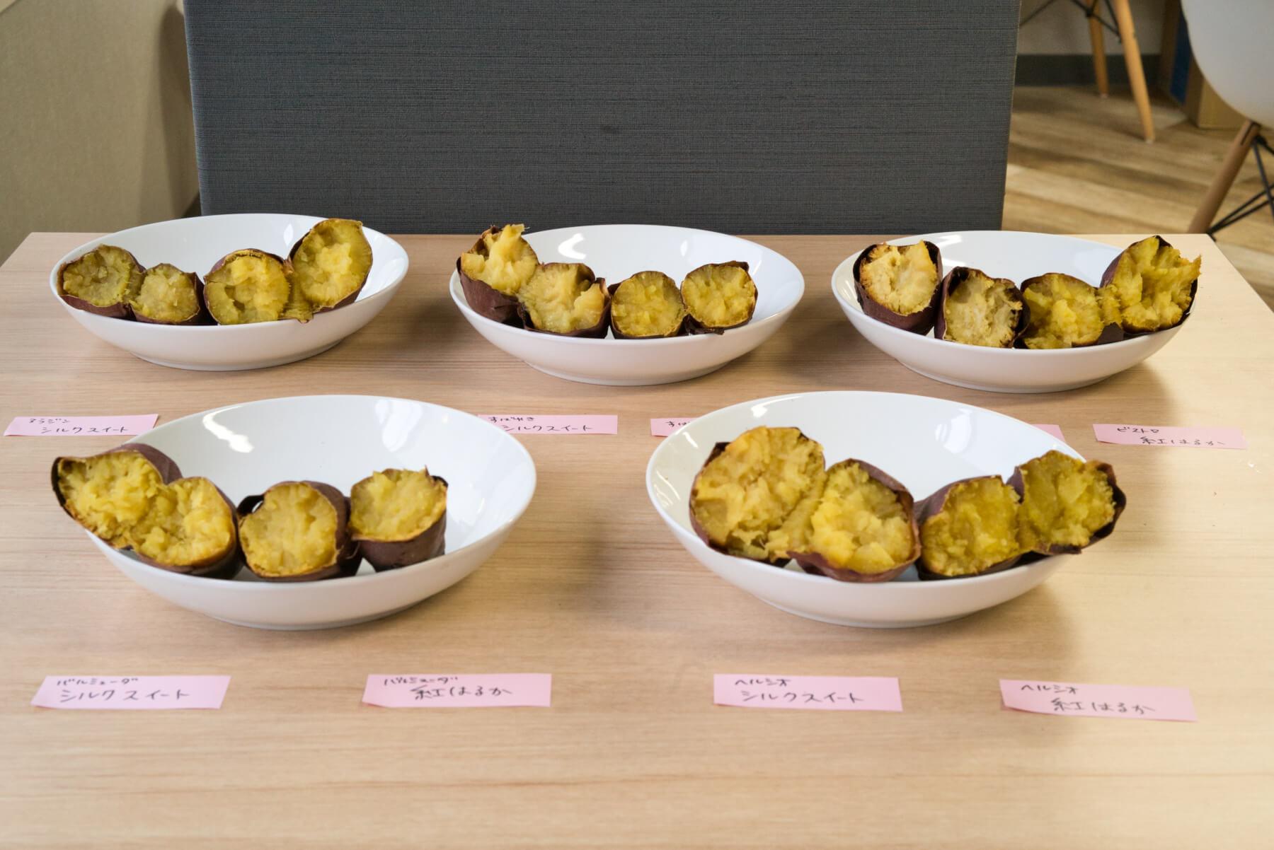 5種類の人気オーブントースターで焼き芋作り検証 約1時間後…すべての焼き芋が完成! 焼き芋断面