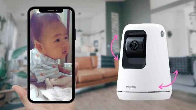 ベビーモニターのアプリ連携