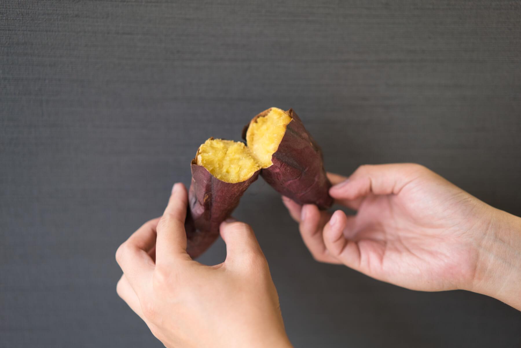 実食!完成した焼き芋を食べ比べ シロカ すばやきトースター 紅はるか