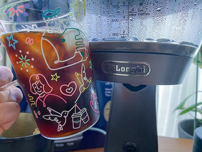 デロンギ クレシドラのアイスコーヒーがうまい