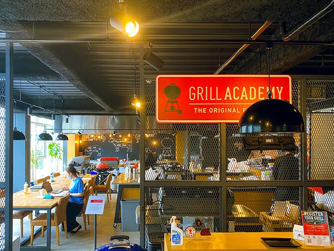 Weberストア青山の店内(Grill Academy)