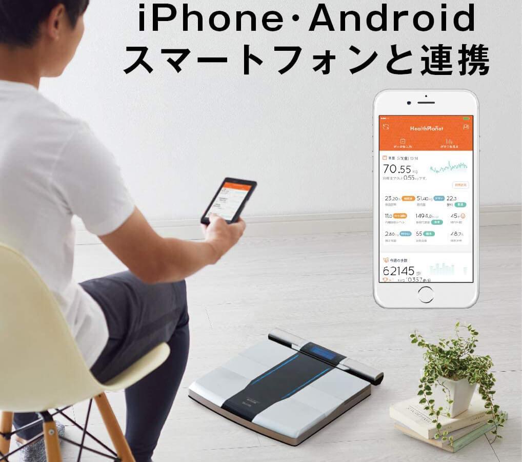 測定情報をスマートフォンに送信することができる