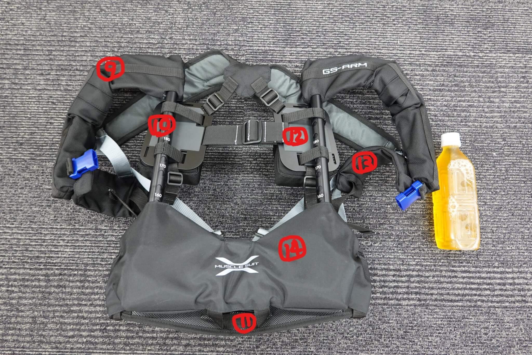 実際に「マッスルスーツ GS-ARM」を使ってみた 外観・各部名称を確認