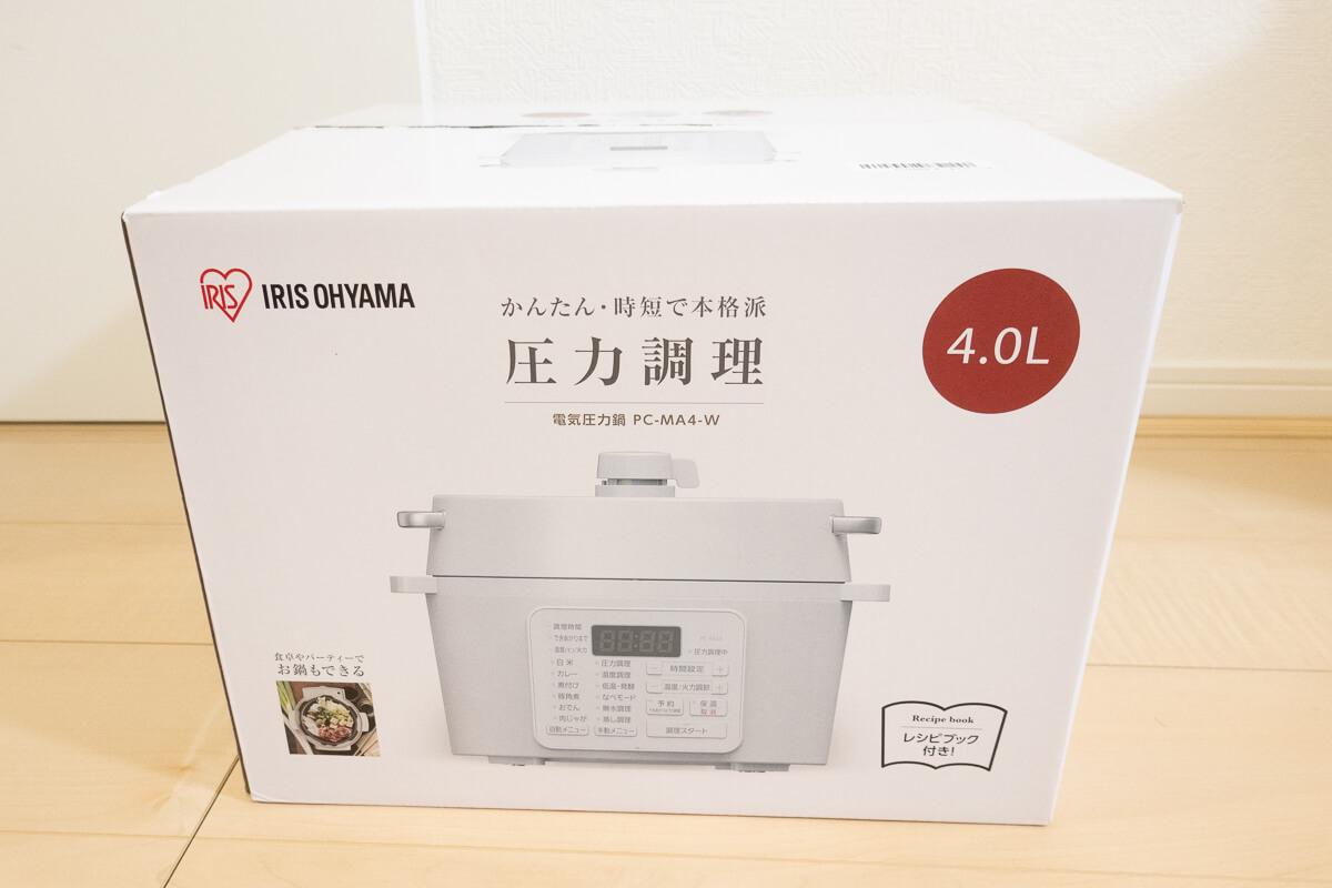 アイリスオーヤマの電気圧力鍋 PC-MA4を使ってレビュー