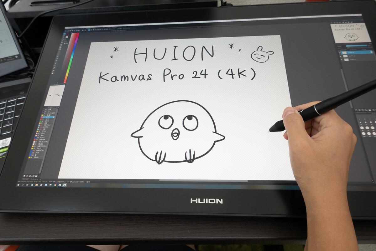 HUION「Kamvas Pro 24 (4K)」使用レビュー!4K大画面液タブの描き心地を検証