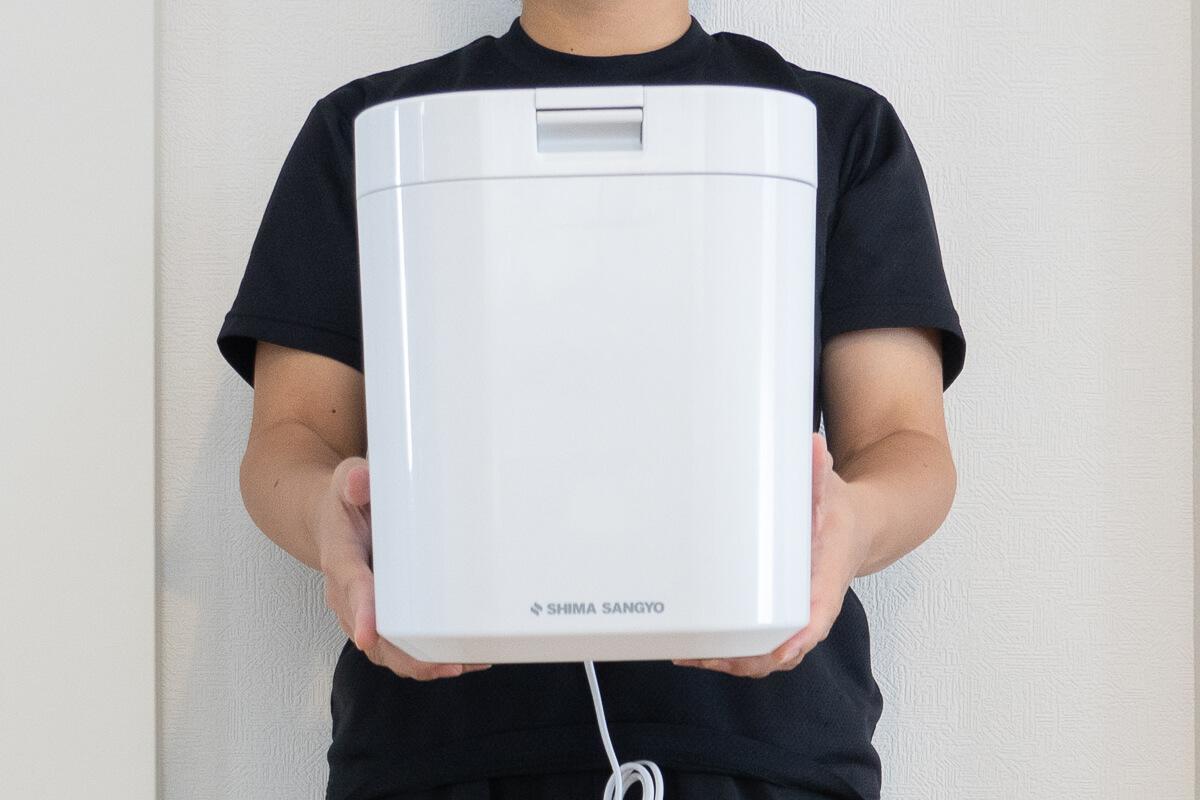 島産業の生ごみ減量乾燥機「パリパリキュー」2. コンパクトなのに大容量