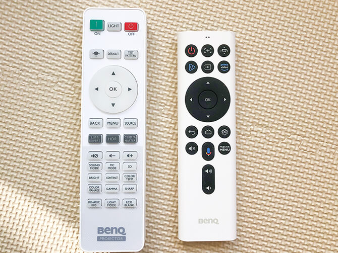 BenQ TK850iのリモコン