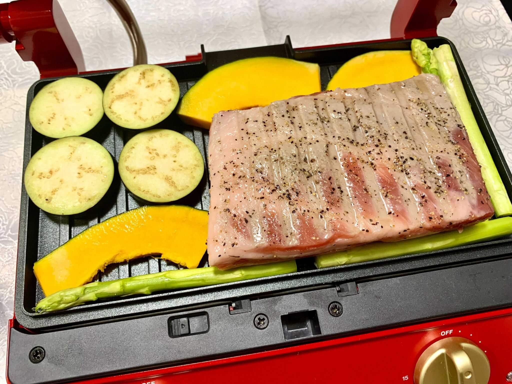 BRUNO豚肉調理前