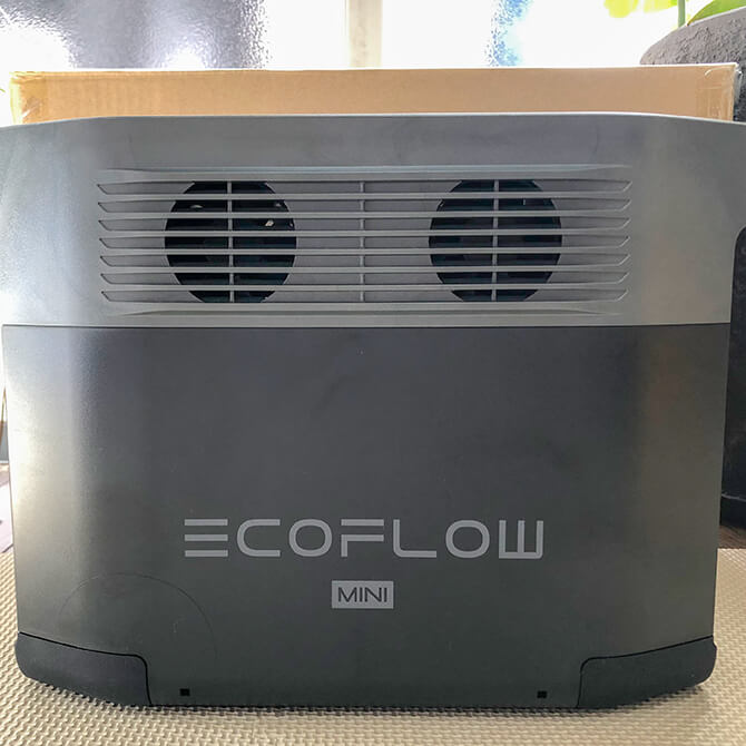 EcoFlow DELTA mini(エコフロー デルタミニ)の外観