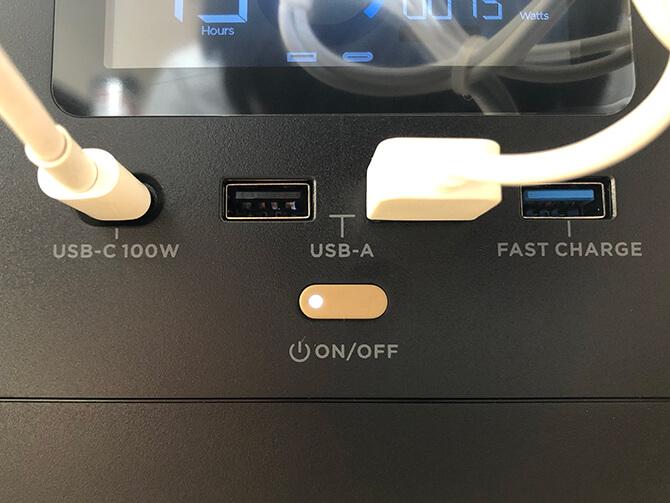 EcoFlow RIVER ProのUSB急速充電