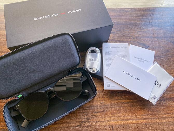 HUAWEI X GENTLE MONSTER Eyewear IIのセット内容