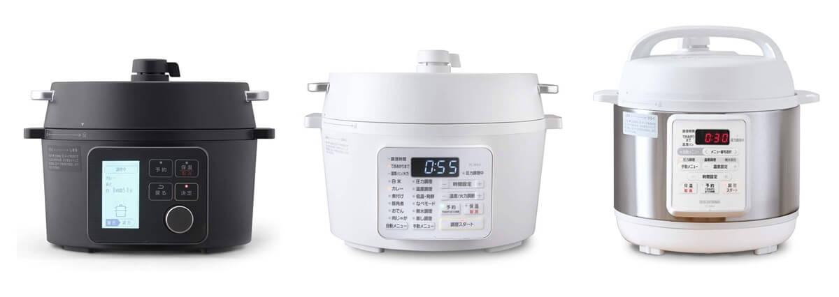 アイリスオーヤマの電気圧力鍋 2シリーズ全10種類の違いを一覧表で比較