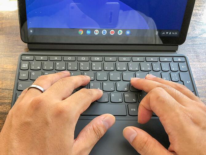 Lenovo IdeaPad Duet Chromebookのキーボード