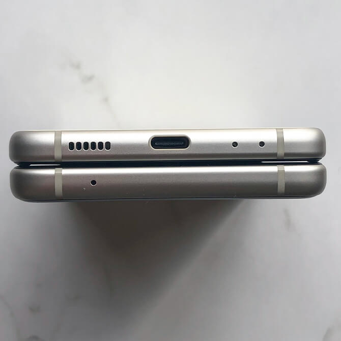 Galaxy Z Flip3 5Gのインターフェース