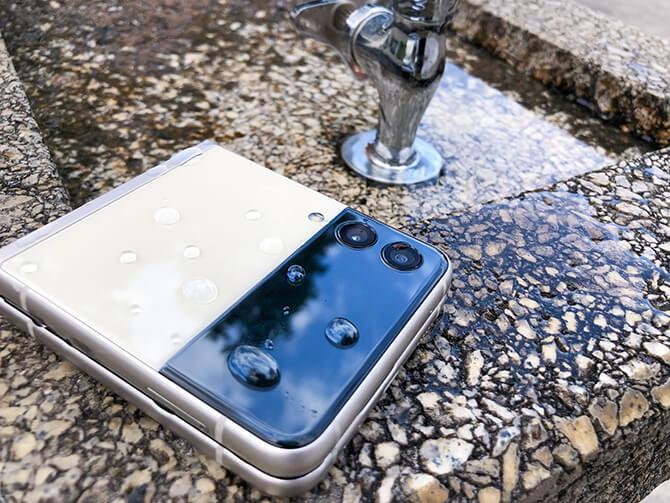 Galaxy Z Flip3 5Gの防水性能