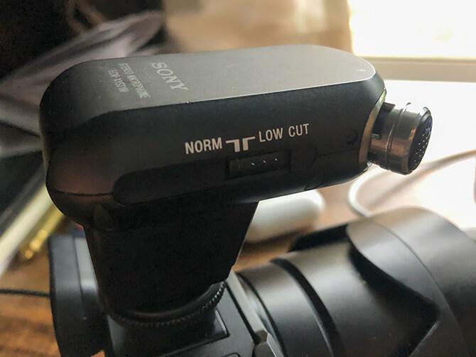 SONY ECM-XYST1Mの低音カットスイッチ