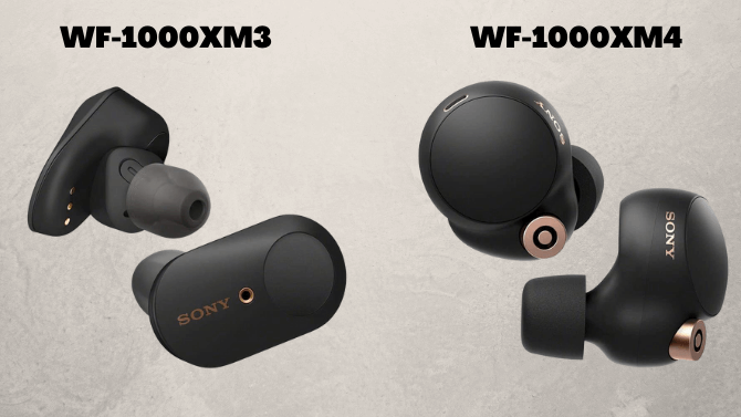 SONY WF-1000XM4とWF-1000XM3を比較