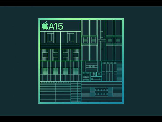 iPhone 13シリーズに搭載されたA15チップ